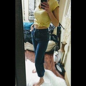 High waisted Mom jeans